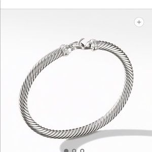 David Yurman Classic Cable Diamond Bracelet 5mm